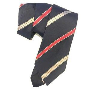 Guy Laroche Vintage Silk Tie belt buckle print